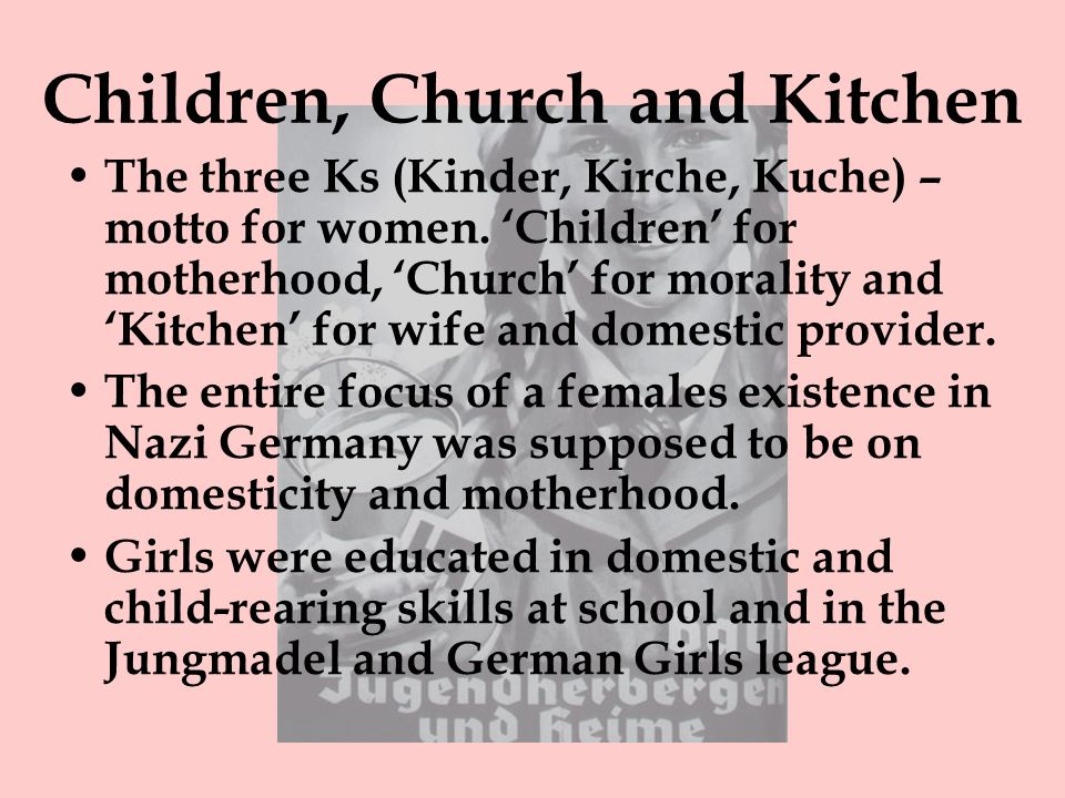 Children, Church and Kitchen