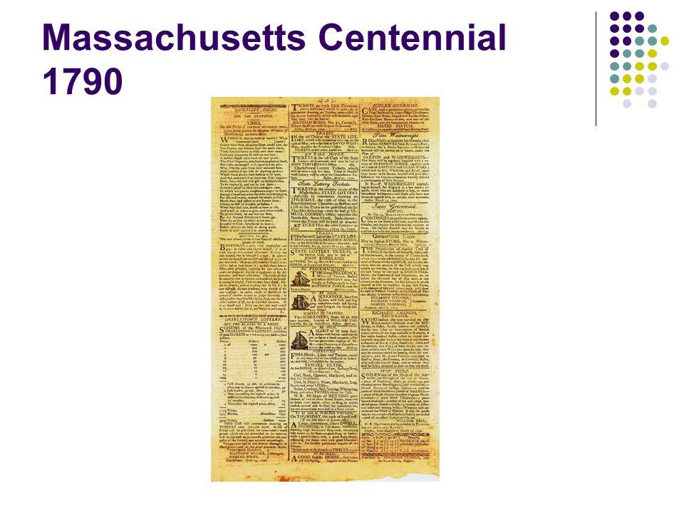 Massachusetts Centennial 1790