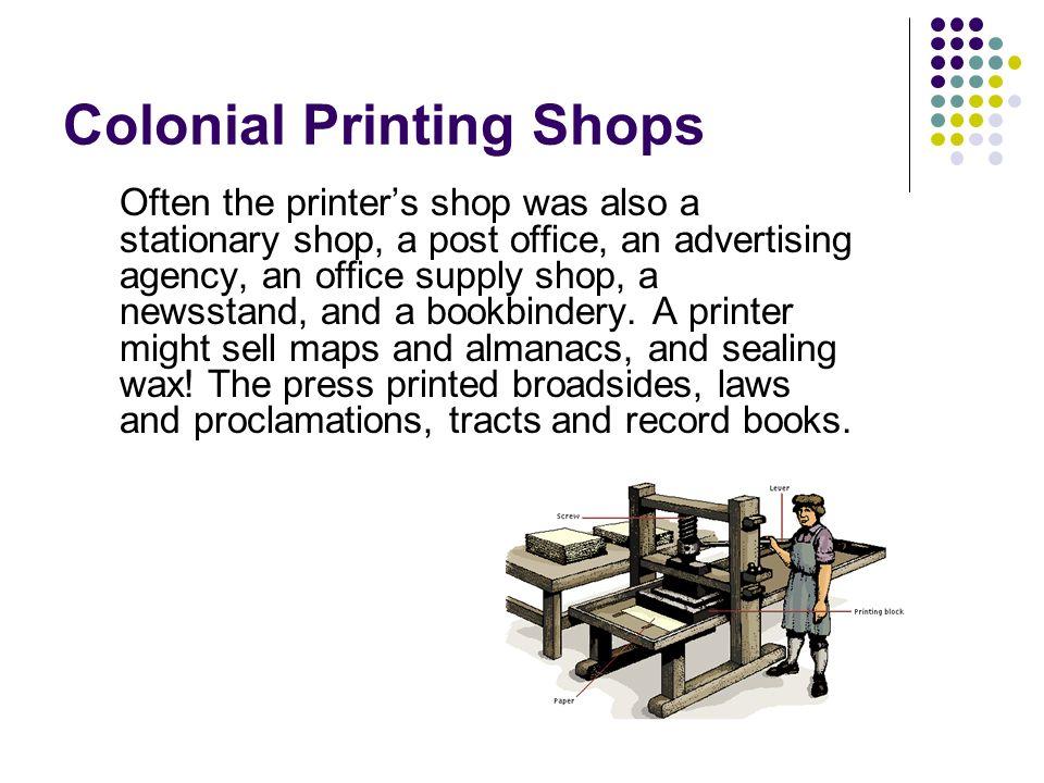 Colonial Printing Shops