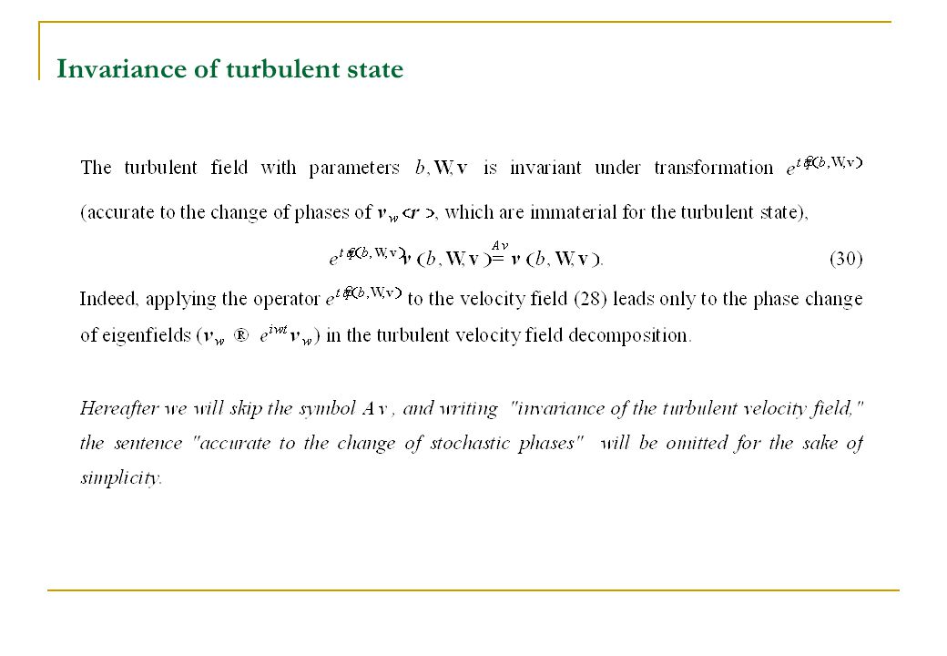 Invariance of turbulent state