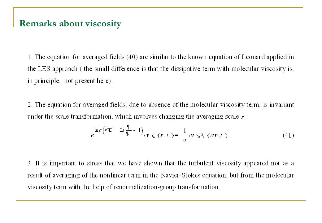 Remarks about viscosity