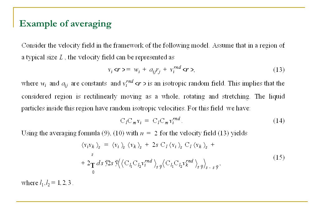 Example of averaging