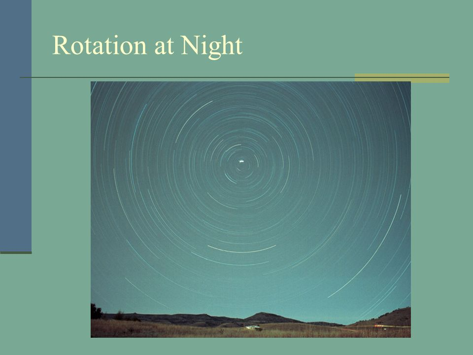 Rotation at Night