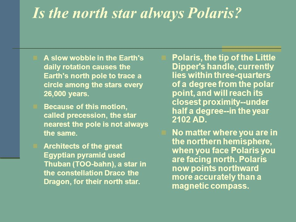 Is the north star always Polaris