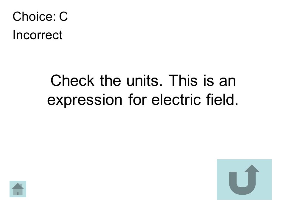Check the units. This is an expression for electric field.
