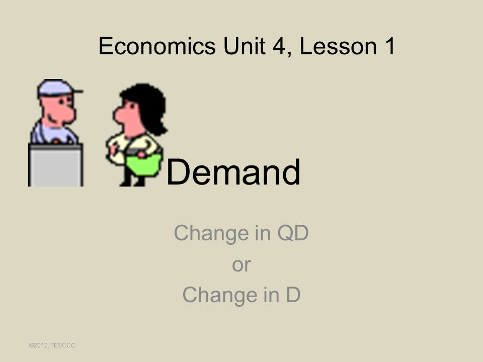 Change in QD or Change in D