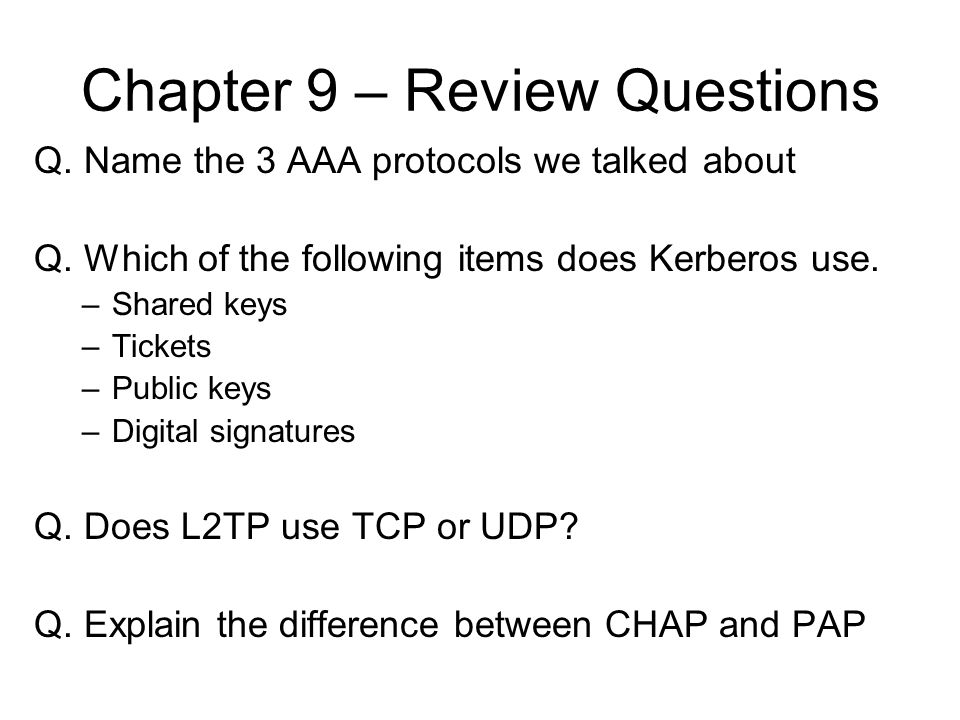Chapter 9 – Review Questions