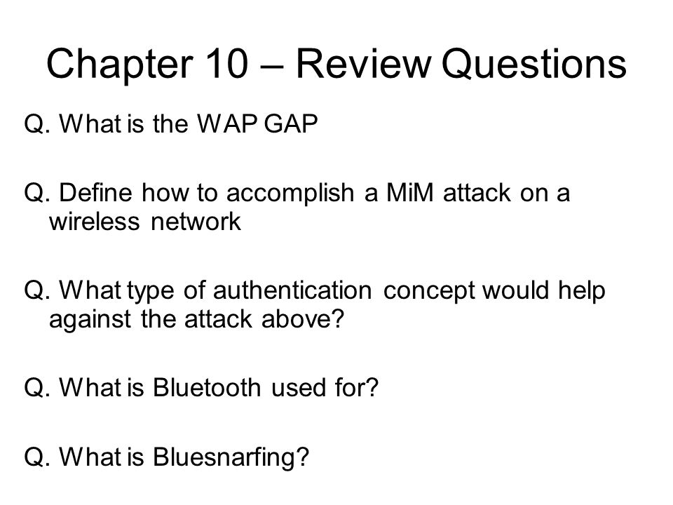 Chapter 10 – Review Questions
