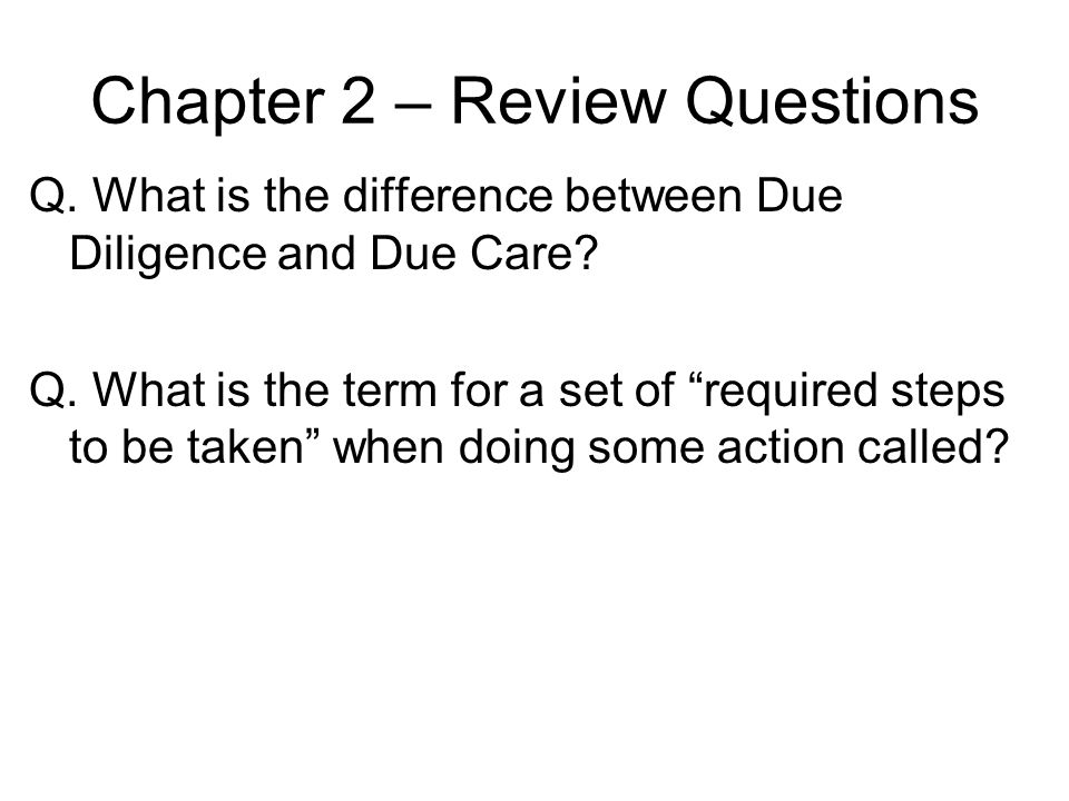 Chapter 2 – Review Questions