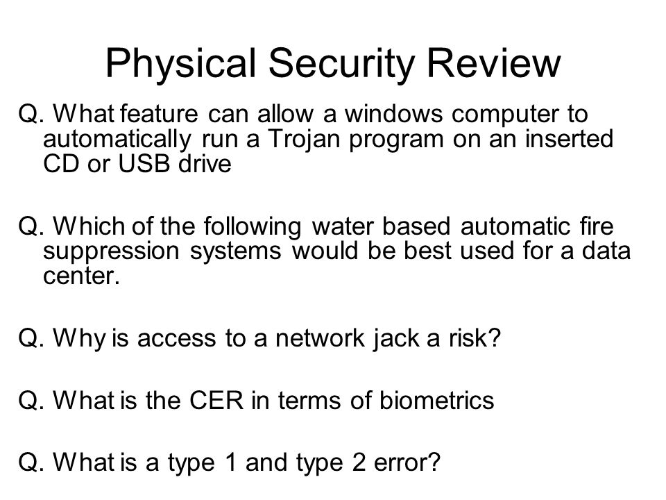 Physical Security Review