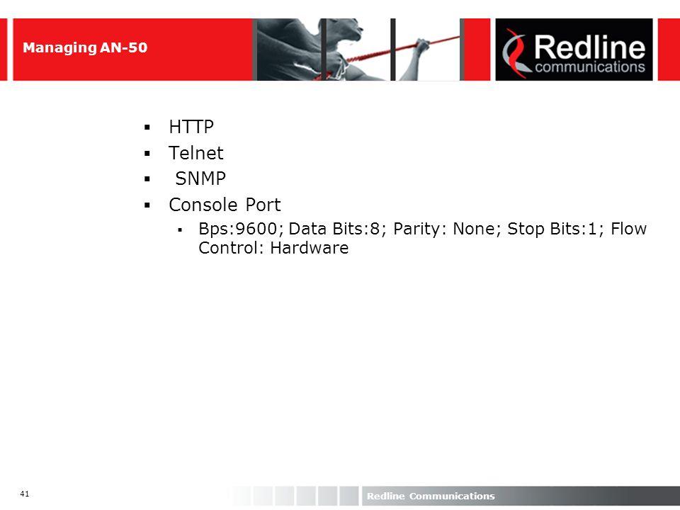 HTTP Telnet SNMP Console Port