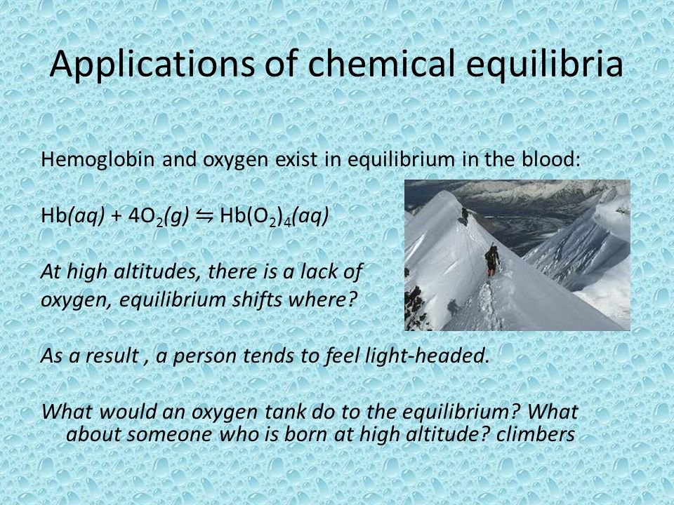 Applications of chemical equilibria