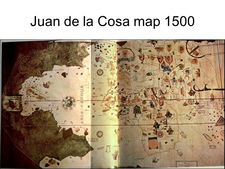 Juan de la Cosa map 1500