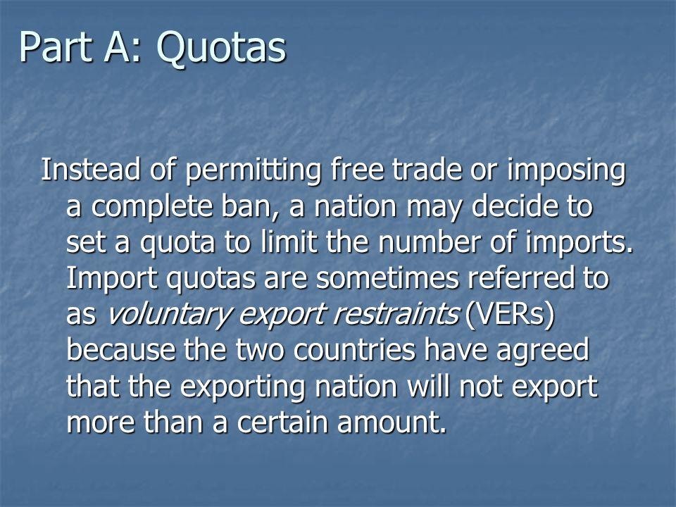Part A: Quotas