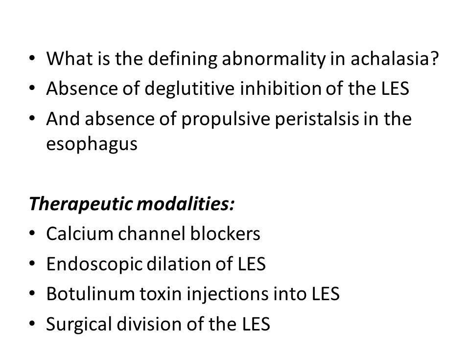 What is the defining abnormality in achalasia