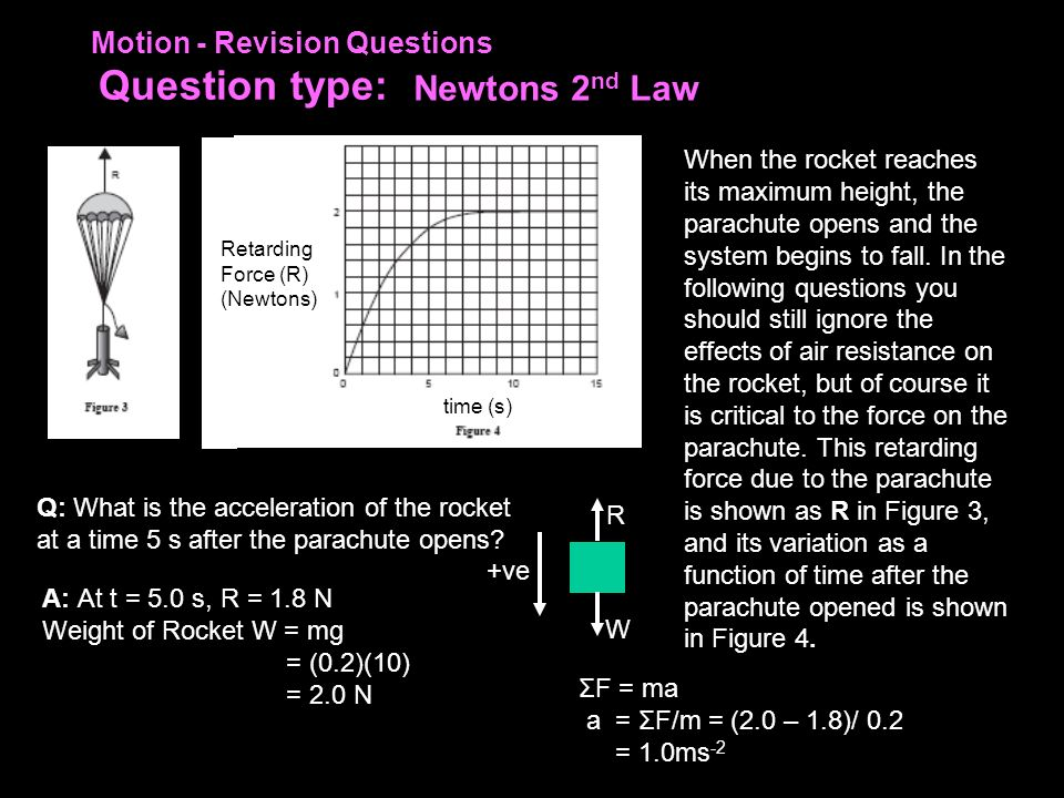 Motion - Revision Questions Question type: