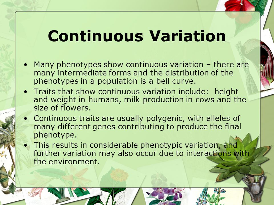 Continuous Variation