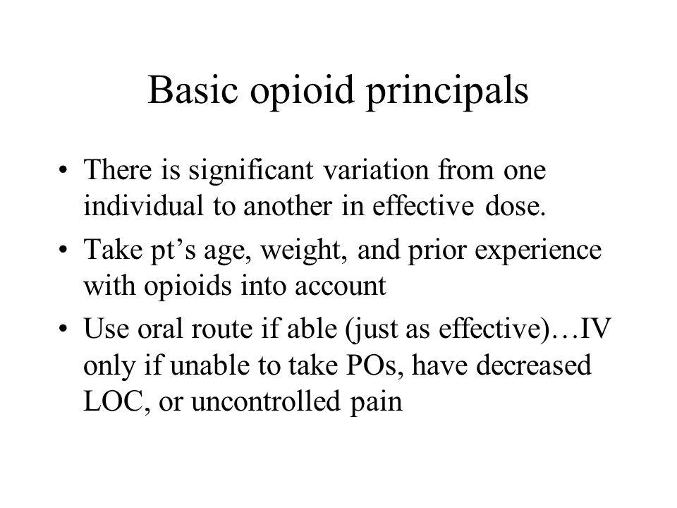 Basic opioid principals