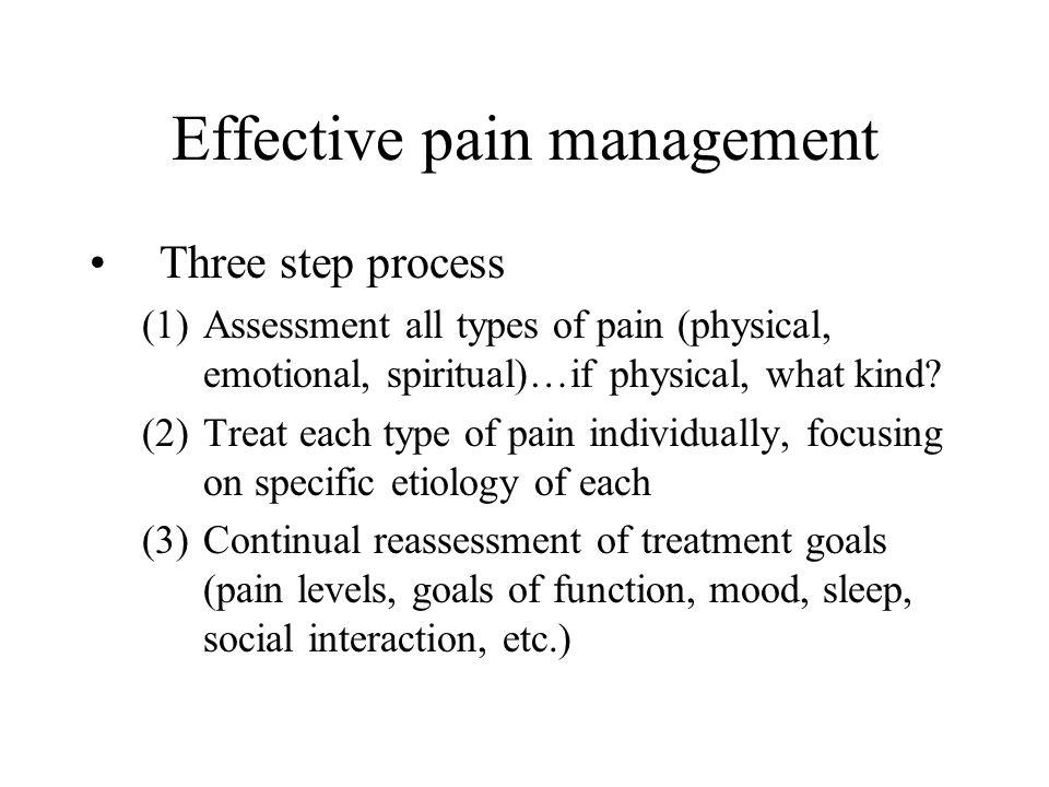 Effective pain management