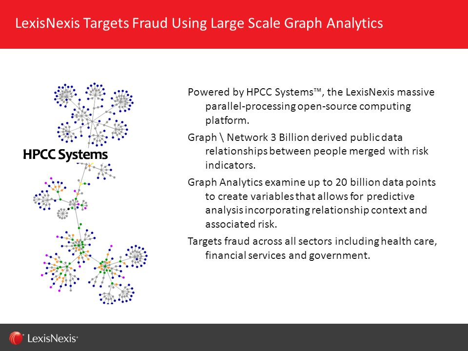 LexisNexis Targets Fraud Using Large Scale Graph Analytics