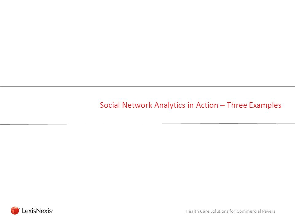 Social Network Analytics in Action – Three Examples