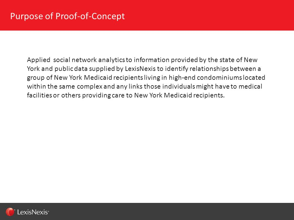 Purpose of Proof-of-Concept
