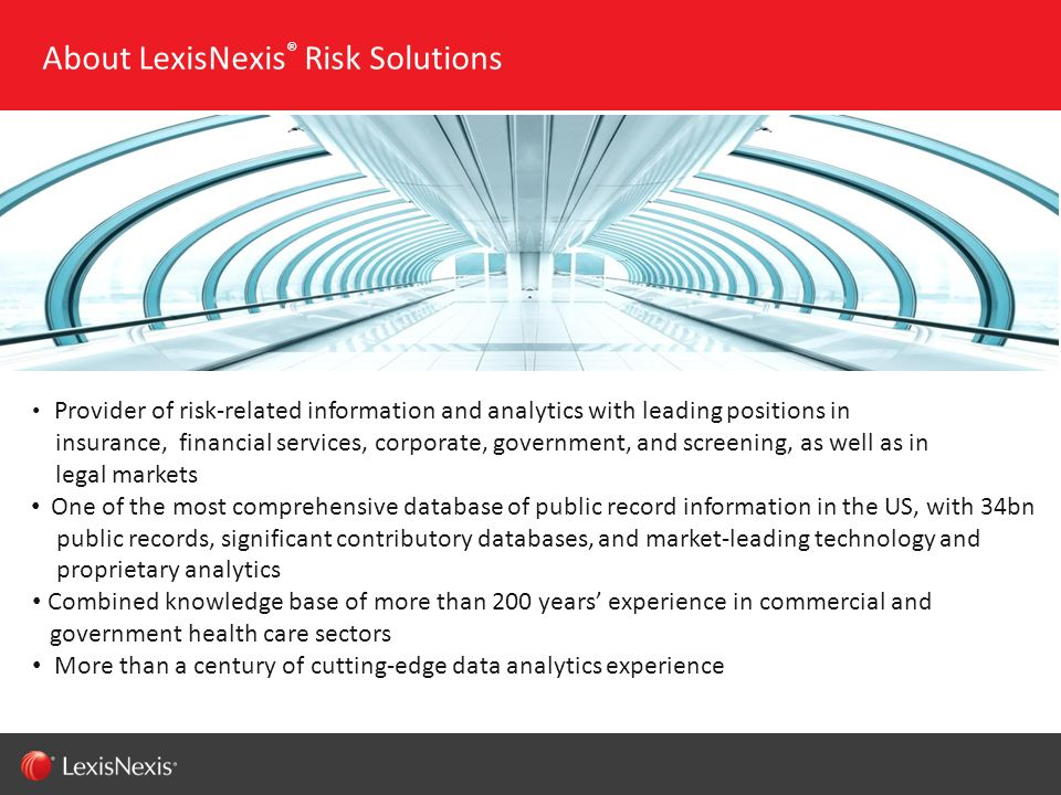 About LexisNexis® Risk Solutions