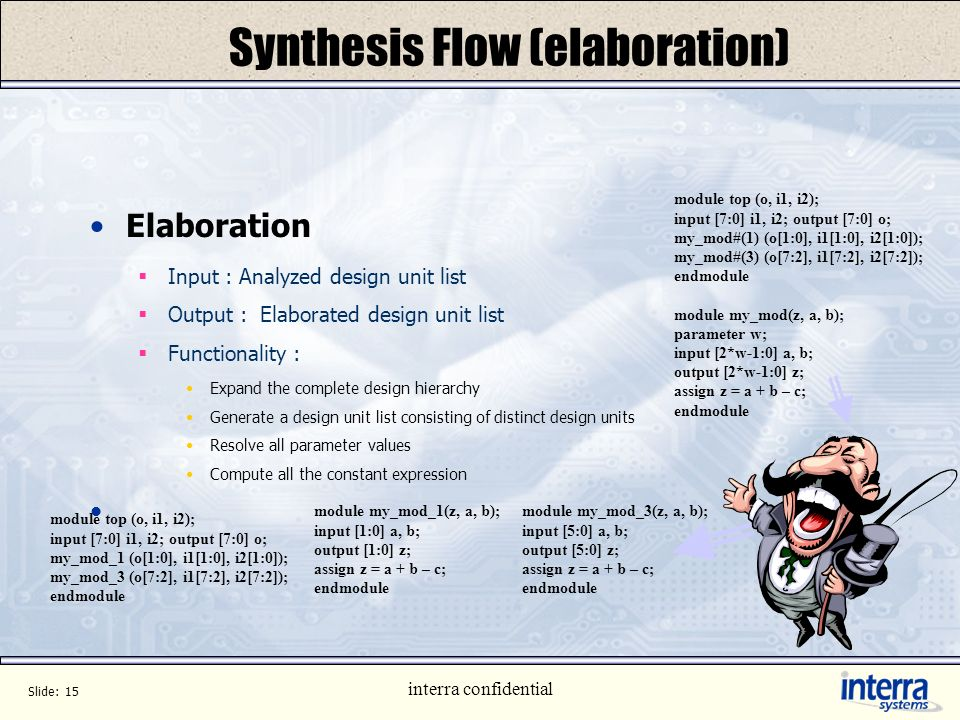 Synthesis Flow (elaboration)