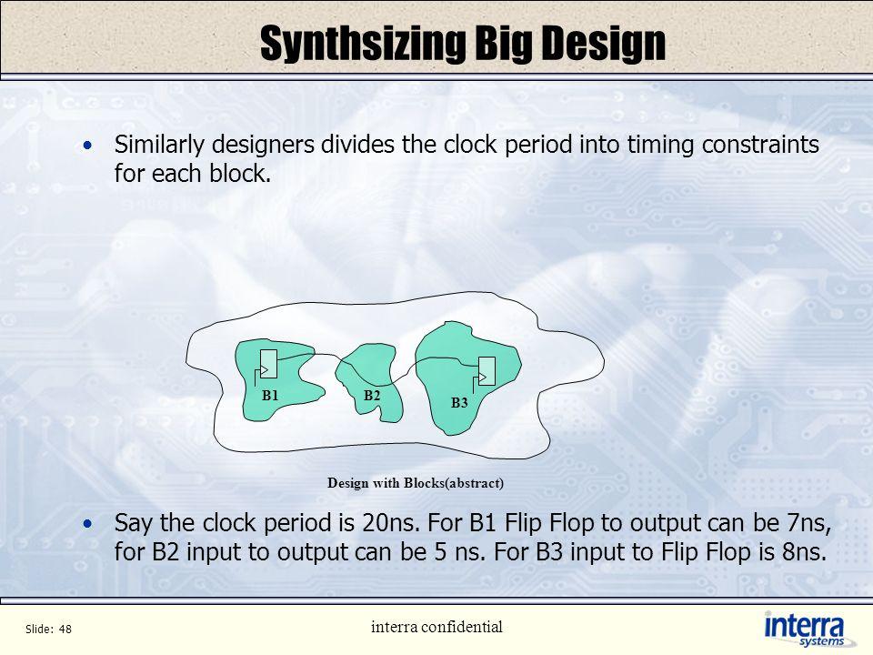 Synthsizing Big Design