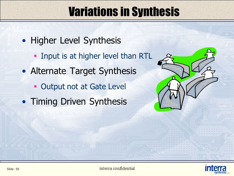 Variations in Synthesis