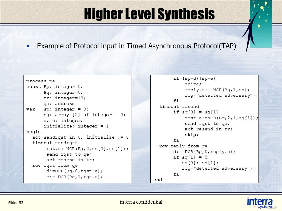 Higher Level Synthesis