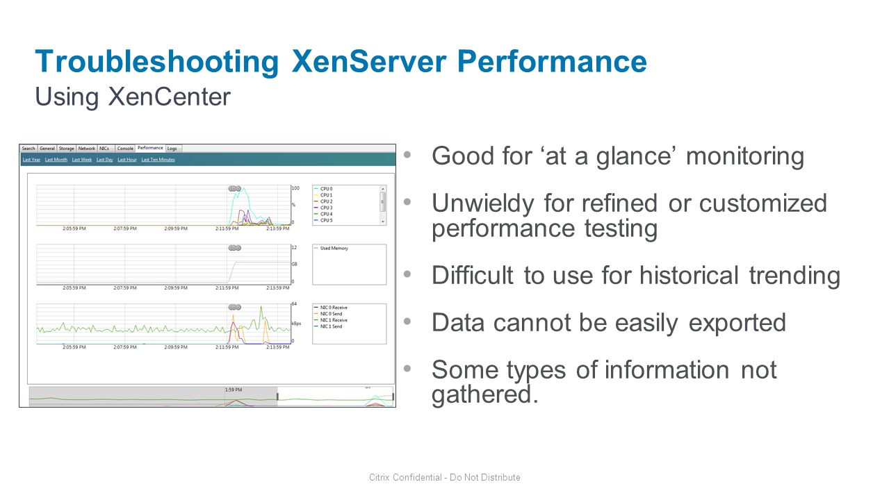 Troubleshooting XenServer Performance
