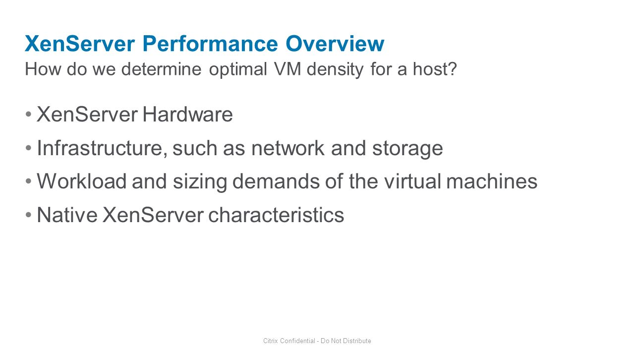 XenServer Performance Overview