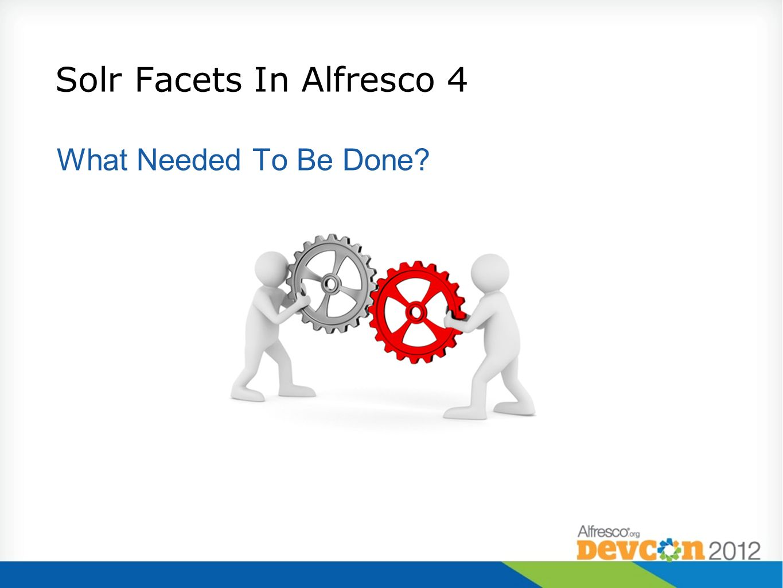 Solr Facets In Alfresco 4
