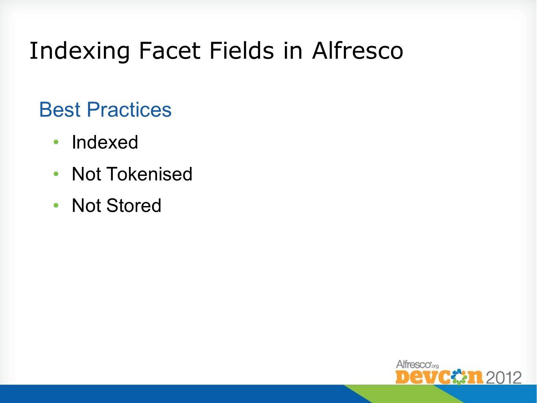 Indexing Facet Fields in Alfresco