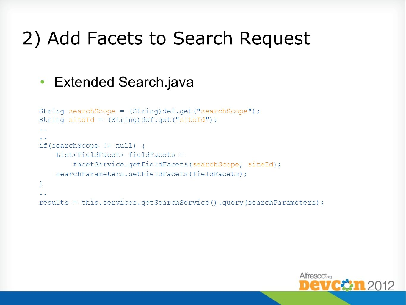 2) Add Facets to Search Request