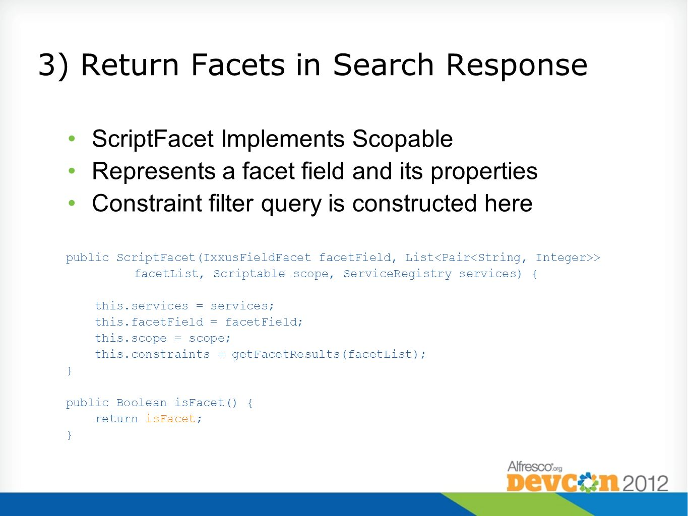 3) Return Facets in Search Response