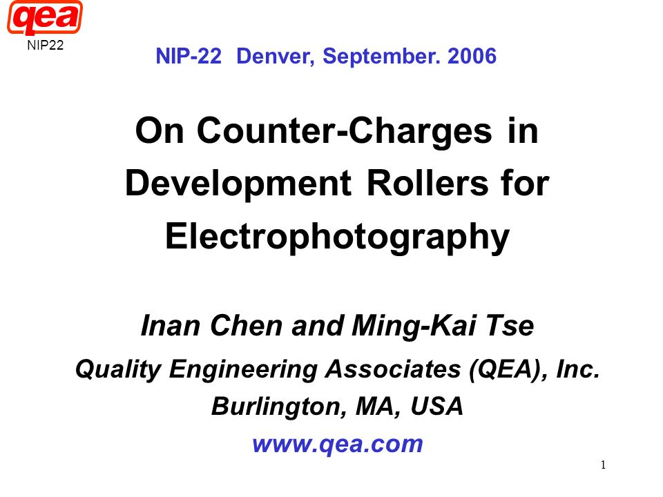 On Counter-Charges in Development Rollers for Electrophotography