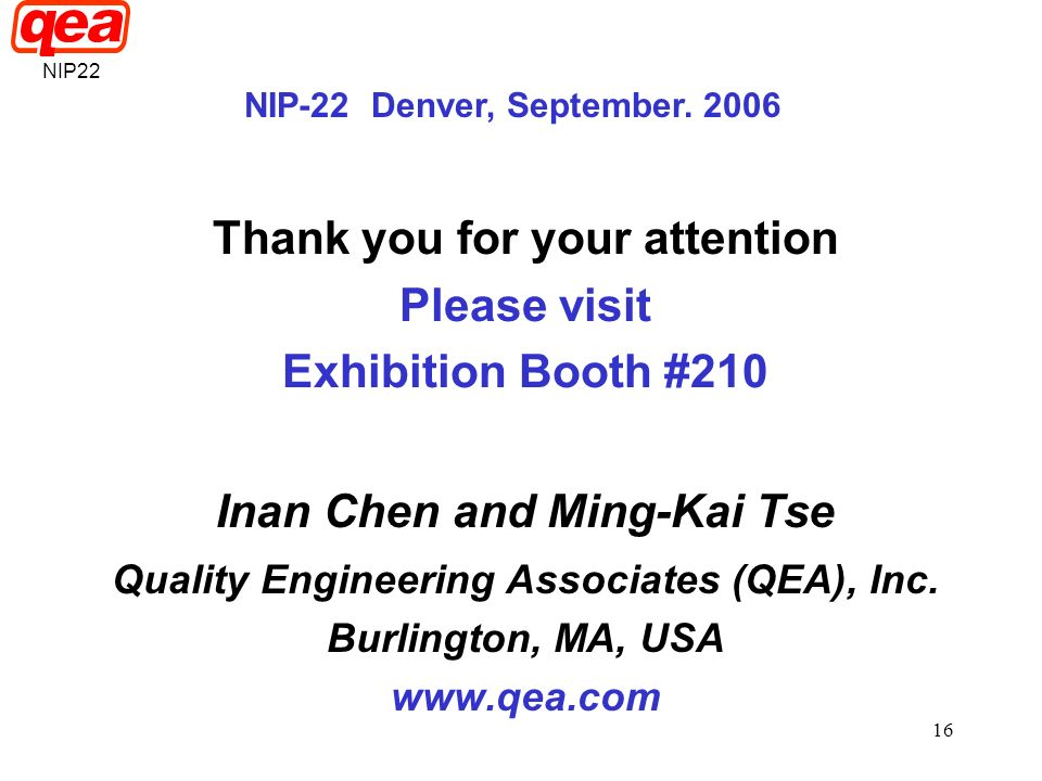 Thank you for your attention Please visit Exhibition Booth #210