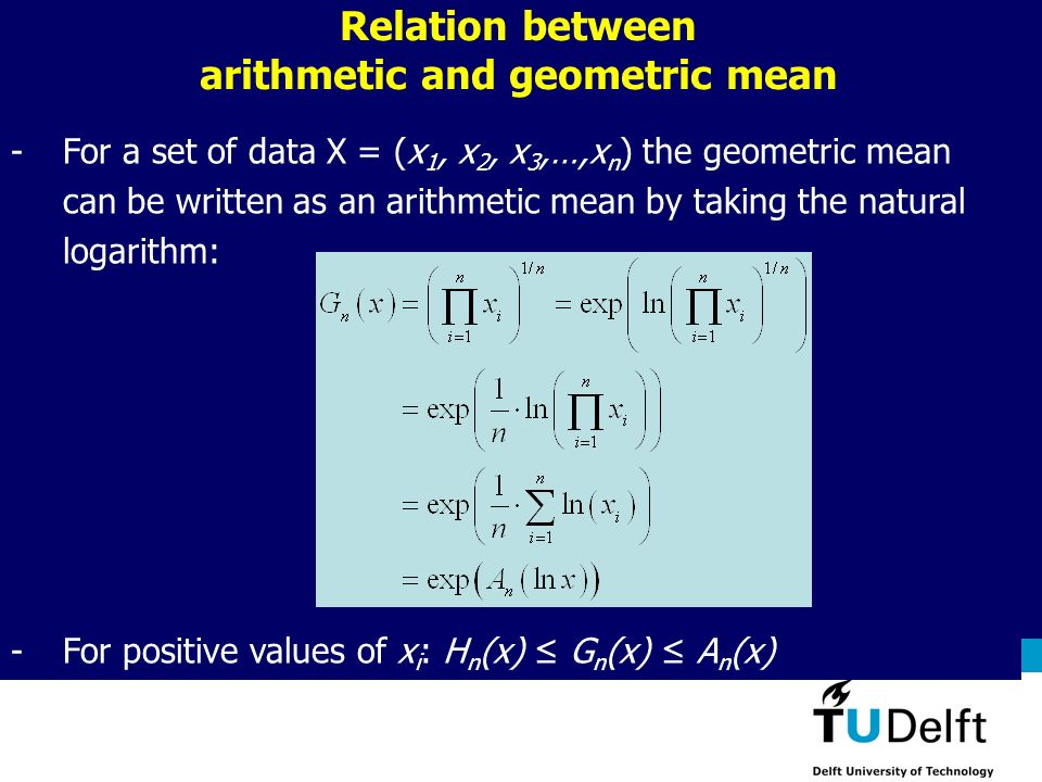 Relation between arithmetic and geometric mean