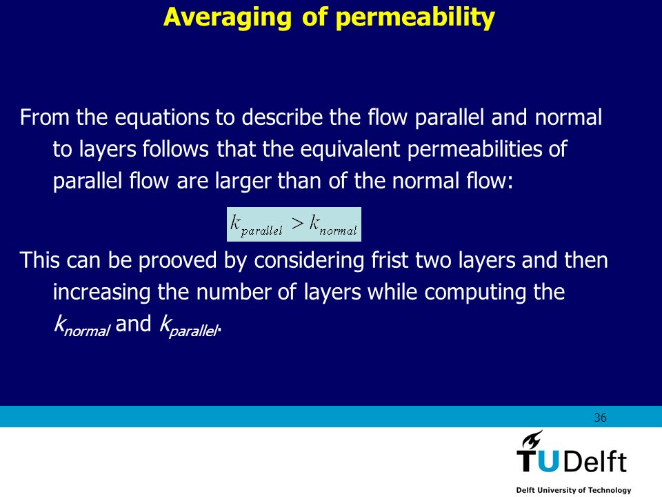 Averaging of permeability
