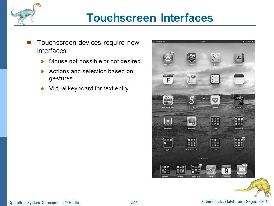 Touchscreen Interfaces