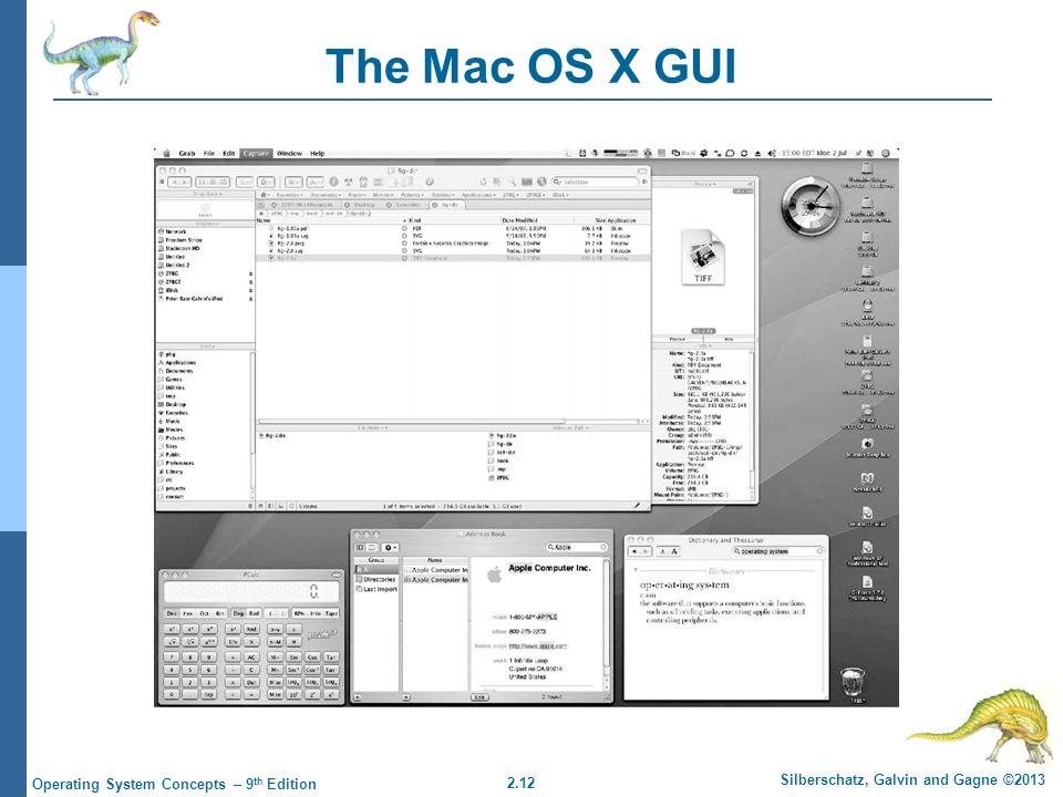 The Mac OS X GUI