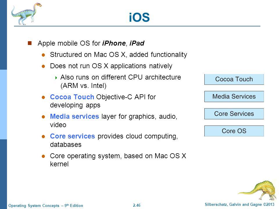 iOS Apple mobile OS for iPhone, iPad