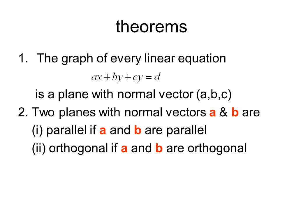 theorems The graph of every linear equation