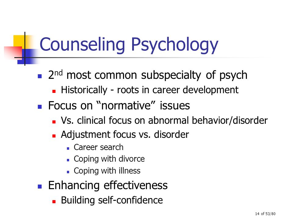 clinical versus counseling psychology Applied psychology is the use of psychological  some of the areas of applied psychology include clinical psychology, counseling  phonics versus.