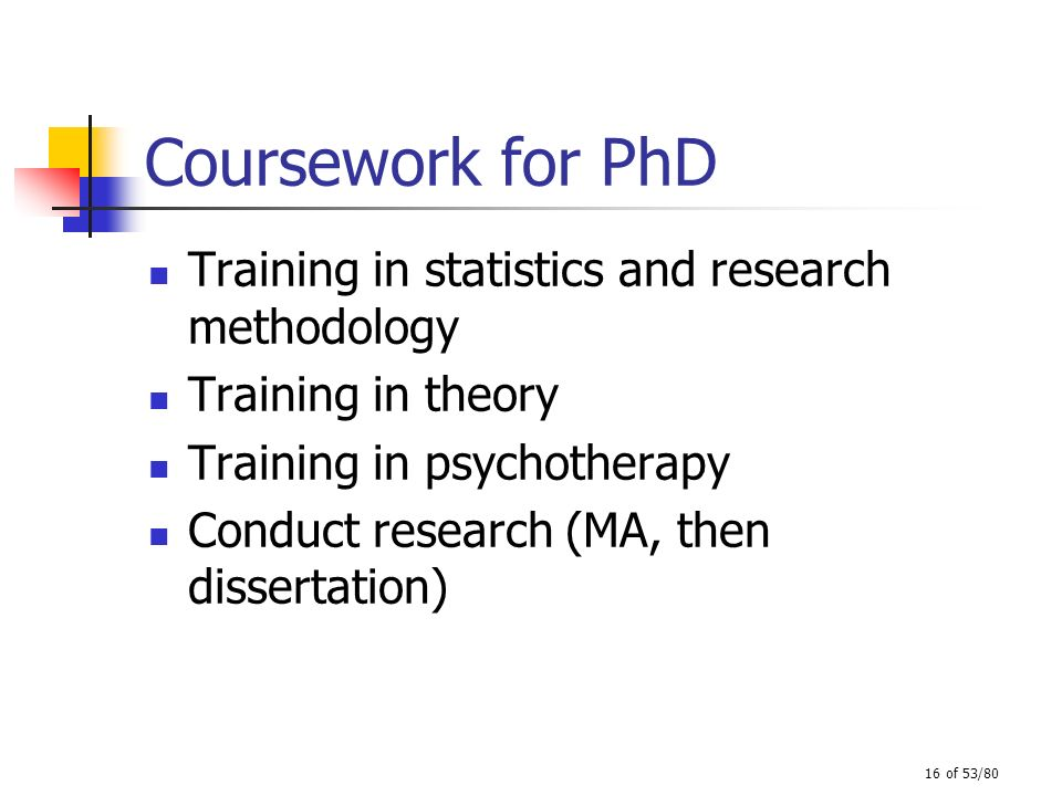 Coursework for PhD Training in statistics and research methodology
