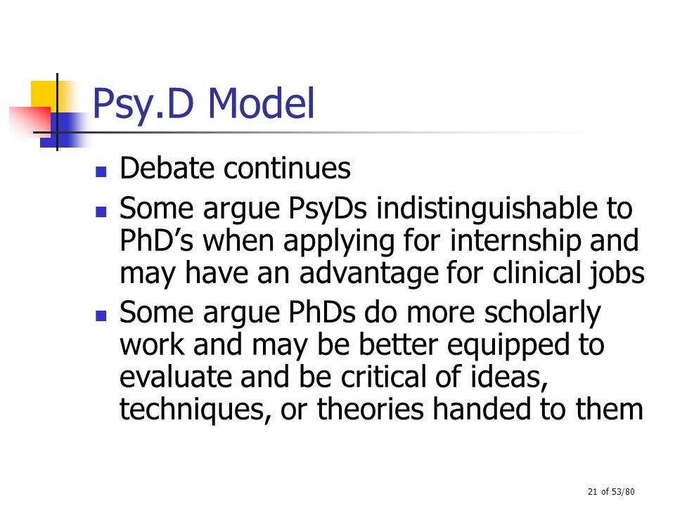 Psy.D Model Debate continues