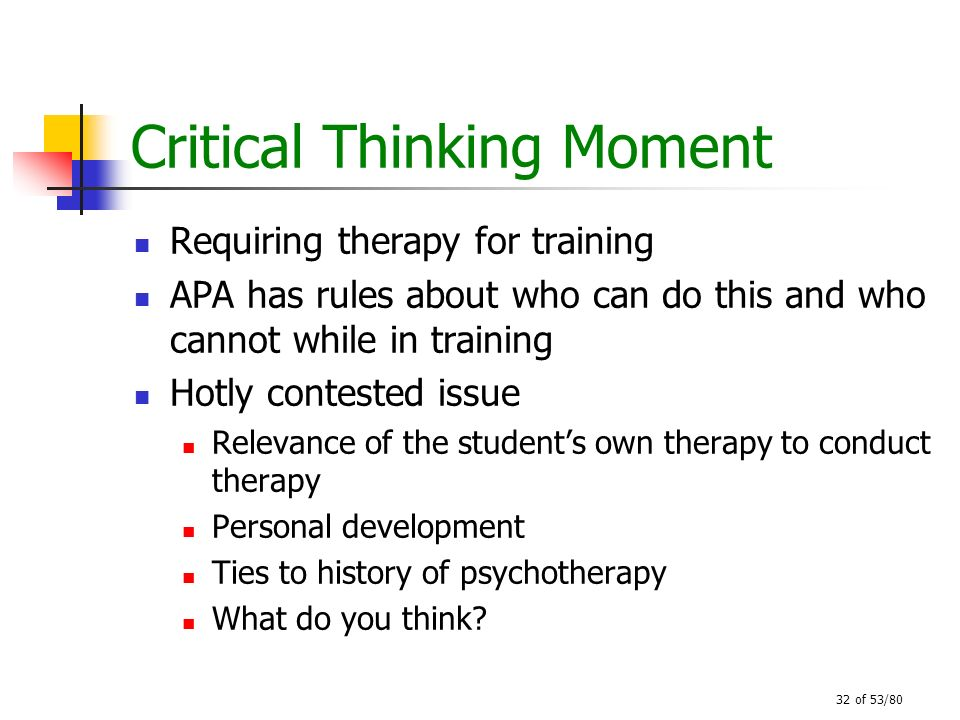 Critical Thinking Moment