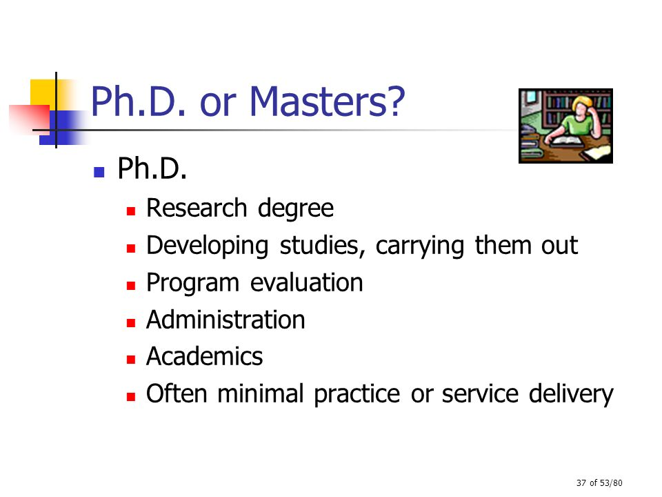 Ph.D. or Masters Ph.D. Research degree